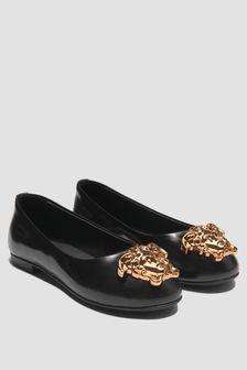 Versace Girls Black Pumps