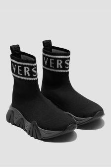 Versace Unisex Black Trainers