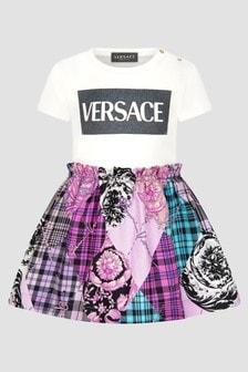 Versace Baby Girls White Dress