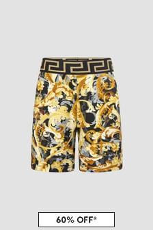 Versace Boys Black Shorts