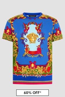 Versace Boys Blue T-Shirt