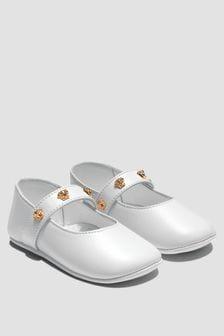 Versace Baby Girls White Pumps