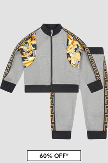 Versace Baby Boys Grey Tracksuit
