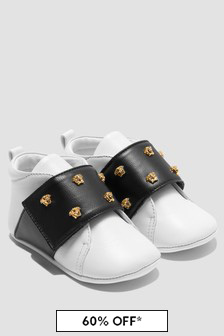 Versace Baby White Trainers