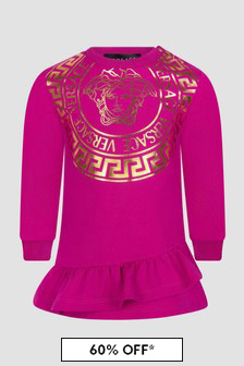 Versace Baby Girls Pink Dress