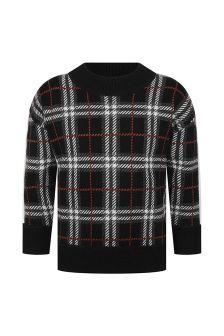 Burberry Kids Boys Check Wool Sweater