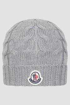Moncler Enfant Boys Grey Hat