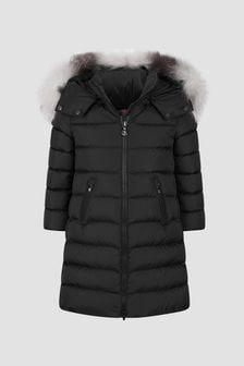 Moncler Enfant Girls Black Abelle Long Coat