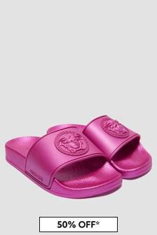 Versace Girls Pink Sandals