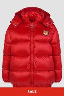 Moschino Kids Boys Red Jacket