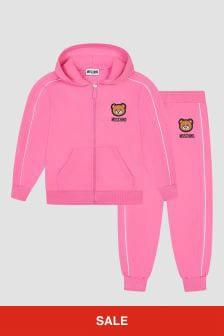 Moschino Kids Unisex Pink Tracksuit