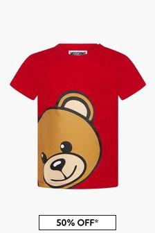 Moschino Kids Baby Boys Red T-Shirt