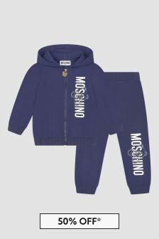 Moschino Kids Baby Boys Navy Tracksuit