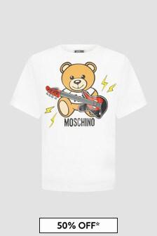 Moschino Kids Boys White T-Shirt