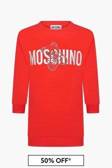Moschino Kids Girls Red Dress