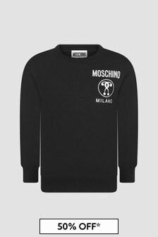Moschino Kids Boys Black Sweat Top
