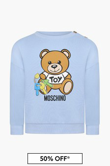 Moschino Kids Baby Boys Blue Sweat Top