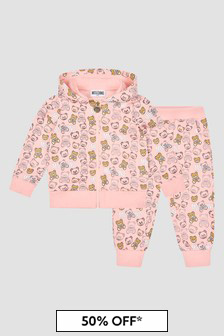 Moschino Kids Baby Girls Pink Tracksuit