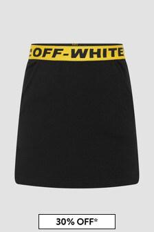 Off White Girls Black Skirt
