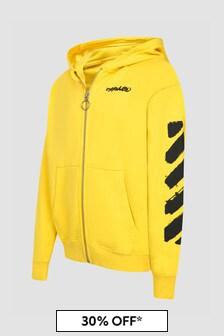 Off White Unisex Yellow Sweat Top