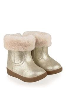 UGG Baby Girls Gold Metallic Jorie II Boots