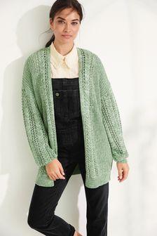 Sage Cotton Cardigan