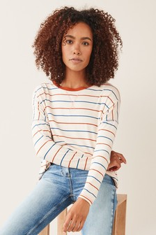 Multi Stripe Drop Shoulder Tunic
