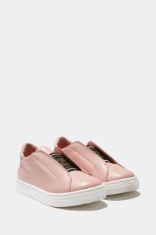 Fendi Kids Leather Slip On Trainers