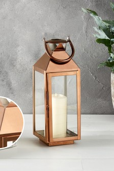 Rose Gold Copper Lantern
