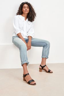 Bleach Straight Leg Jeans