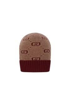 GUCCI Kids Baby GG Wool & Cotton Burgundy Hat