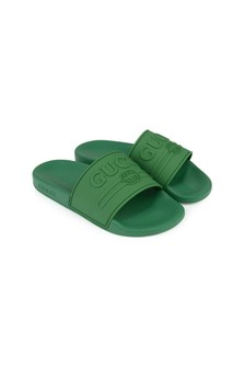 GUCCI Kids GG Logo Sliders