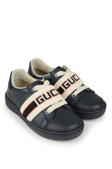 GUCCI Kids Leather Ace Trainers
