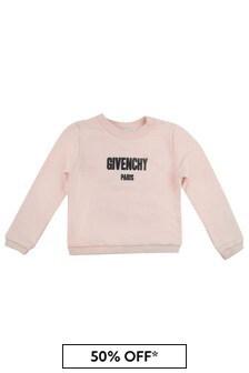 Givenchy Kids Girls Logo Print Sweater