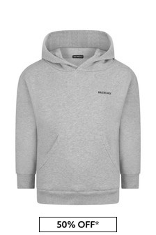 Balenciaga Kids Cotton Hooded Sweater
