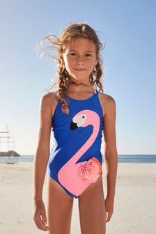 Cobalt Flamingo Swimsuit (3-16yrs)