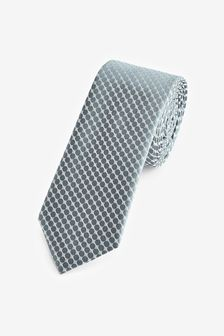 Sage Green Geometric Tie