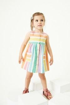 Multi Bright Rainbow Stripe Dress (3mths-7yrs)