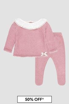 Paz Rodriguez Baby Girls Pink Jumper
