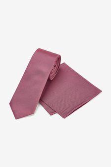 Rose Silk Tie And Pocket Square Set