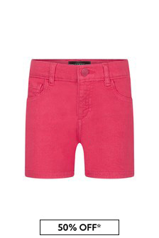 Guess Girls Fuchsia Denim Shorts