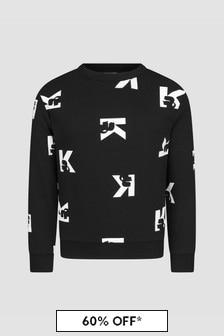 Karl Lagerfeld Boys Black Sweat Top