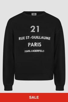 Karl Lagerfeld Girls Black Sweat Top