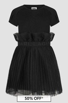 Karl Lagerfeld Girls Black Dress
