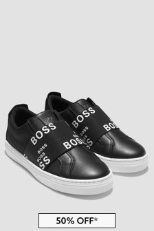 Boss Kidswear Boys Black Trainers