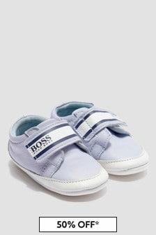 Boss Kidswear Baby Boys Blue Trainers
