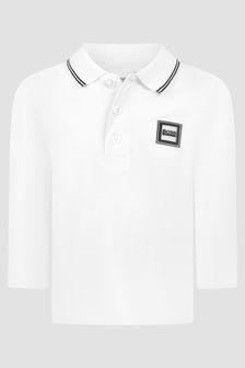 Boss Kidswear Baby Boys White Polo Shirt