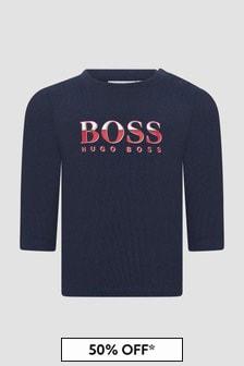 Boss Kidswear Baby Boys Navy T-Shirt