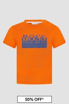 Boss Kidswear Baby Boys Orange T-Shirt