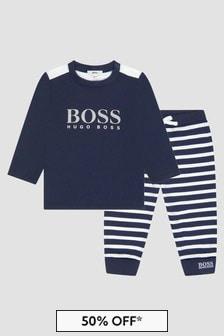 Boss Kidswear Baby Boys Navy Set